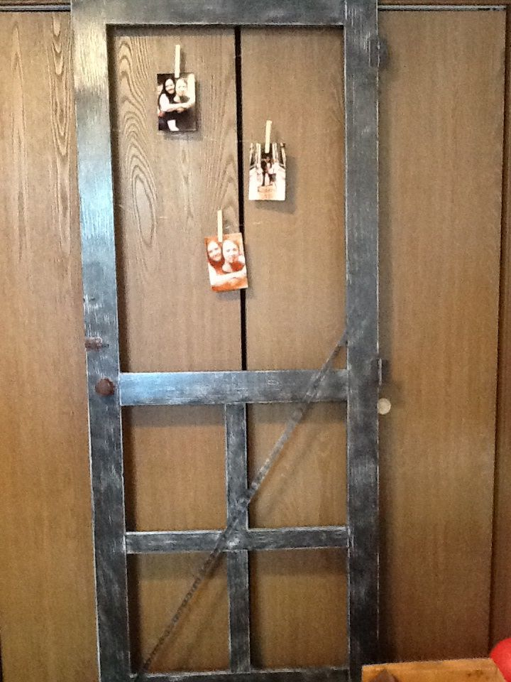 Redone old wood door | Crafty DIY projects | Pinterest