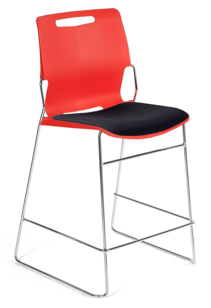 Castel Counter Height Stool with Upholstered Seat