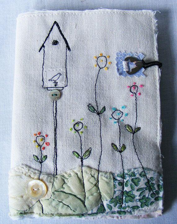 Handmade Needlecase : Birdhouse amongst the Flowers