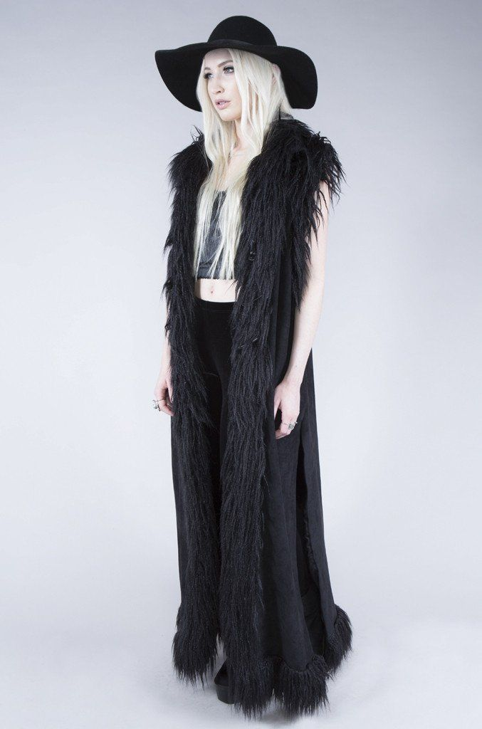 """LIP SERVICE Widow """"Chill of the Night"""" long vest #38-415"""