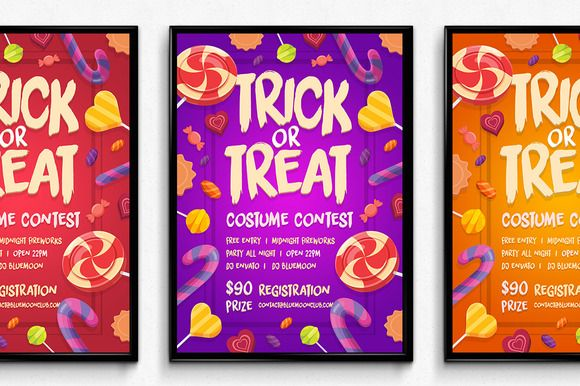 Candy Halloween Poster by SNK's on Creative Market