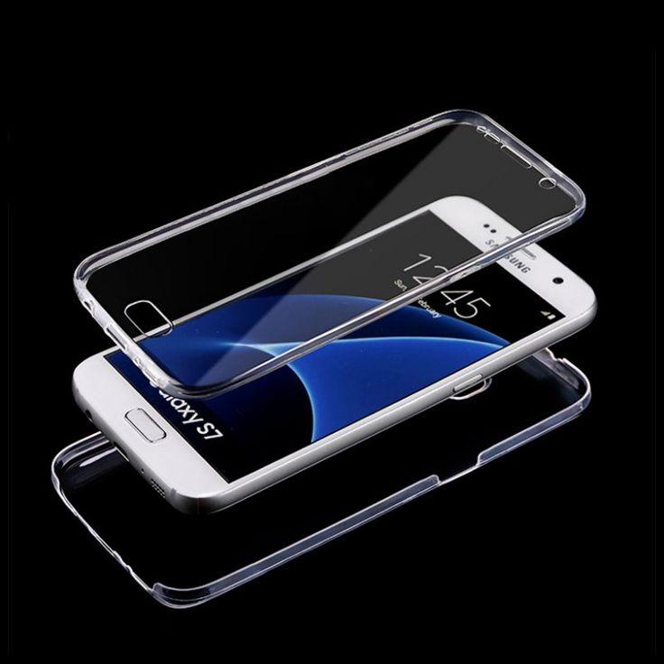 S7 S7 Bord Avant + Retour Etui de Protection Full Body Écran Tactile Mobile téléphone Clair De Silicium Pur Couverture Pour Samsung Galaxy S7 S7 Edge dans Téléphone Sacs et Valises de Téléphones et Télécommunications sur AliExpress.com | Alibaba Group