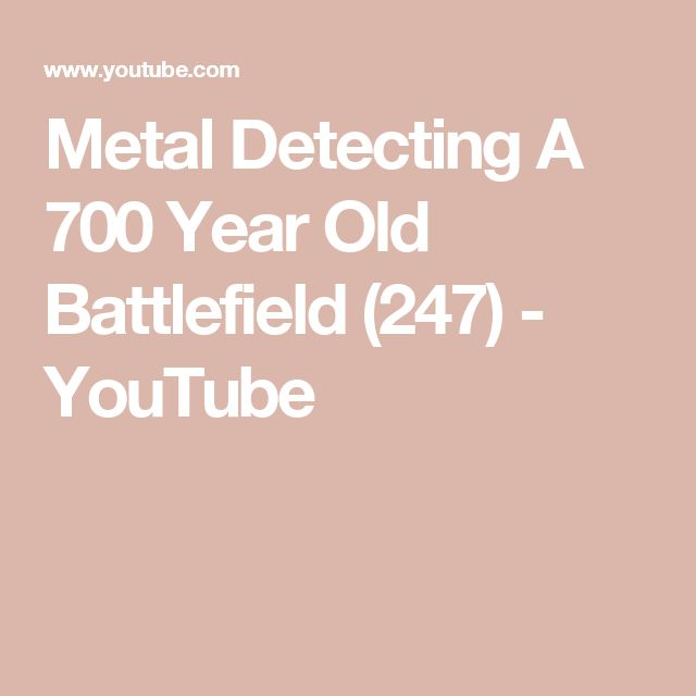 Metal Detecting A 700 Year Old Battlefield (247) - YouTube