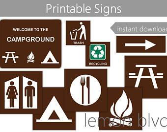 photograph about Free Printable Camping Signs titled Campground Signs and symptoms Tenting Occasion Printables Quick