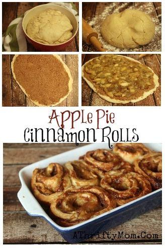 Apple Pie Cinnamon Roll recipe, #Apples, #Breads, #Desserts, #CinnamonRolls