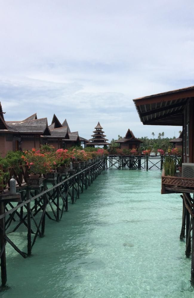 There's a variety of accommodation on Mabul, but even the luxury overwater bungalows are affordable. Picture: Sangeeta Kocharekar