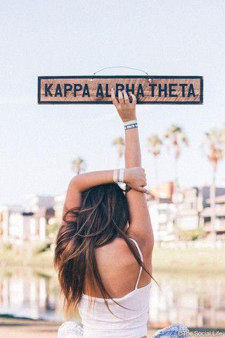 Kappa Alpha Theta Vintage Sign | The Social Life