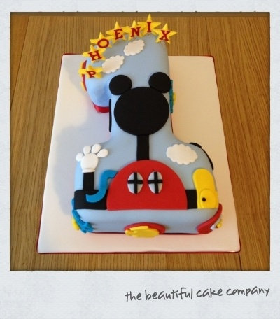 mickey mouse clubhouse number 1 cake By lucycoo on CakeCentral.com