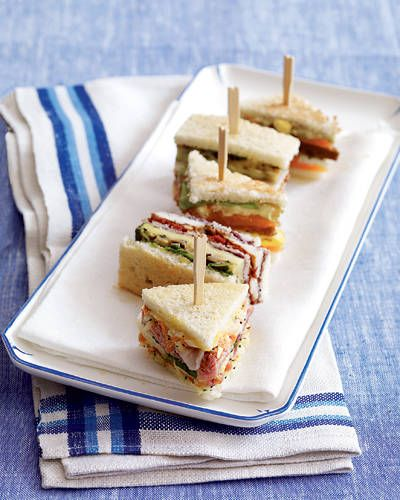 Club Sandwiches: They're perfect for a picnic, brunch, or even an elegant cocktail party.