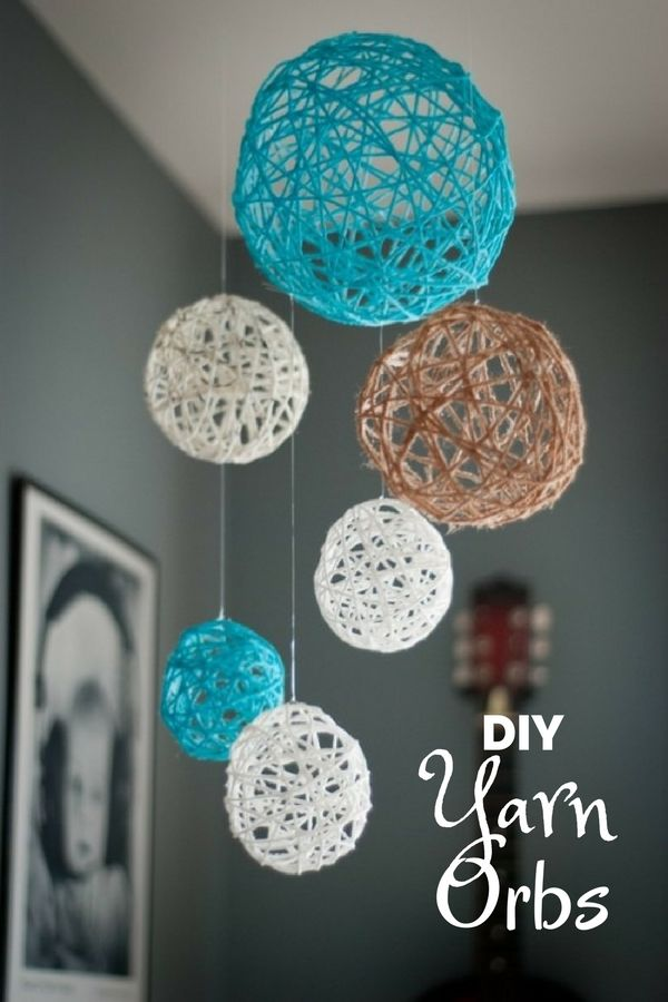 Check out how to make easy DIY Yarn Orbs for bedroom decor @istandarddesign