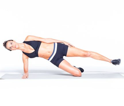 Sculpt Your Body in Six Easy Moves: Workouts: Knee Side Plank Here's how. via @SELF Magazine