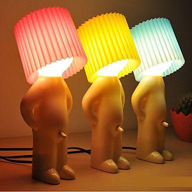 verlegen jongen ontwerp warm wit led tafellamp (verschillende kleuren) - EUR € 22.07