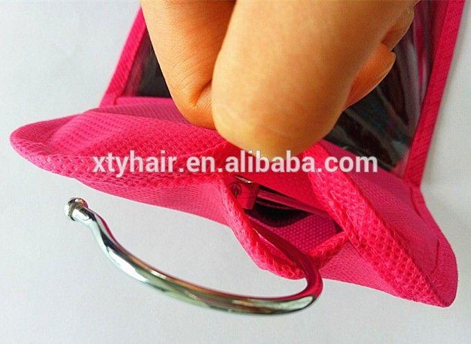 custom hair extensions bags or packaging or tags, garment hair bag with hanger
