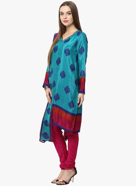 Buy Yepme Aqua Blue Printed Churidar Kameez Dupatta for Women Online India, Best Prices, Reviews | YE982WA35HSEINDFAS