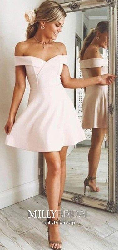 b15b57de460 Pink Homecoming Dresses Short