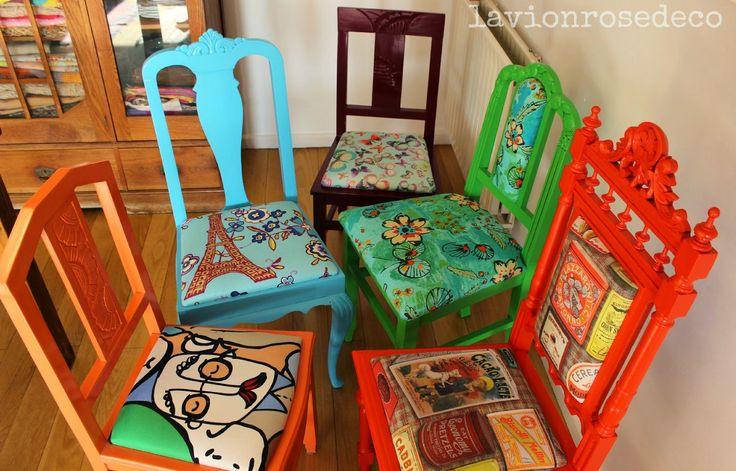 cadeiras velhas repaginadas