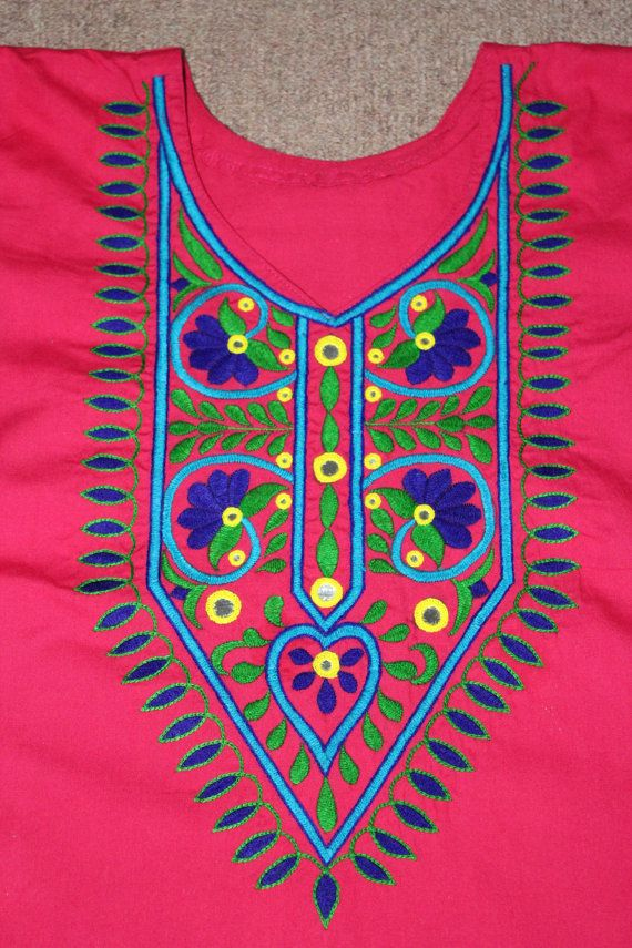 Hand embroidery hand made dress indian design by for Made design