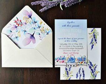 40% off Serenity Lavender Wedding Invitation Suite, Floral Watercolor Invites, Spring Wedding Invitations, Bohemian Invite Set, Elegant, - Edit Listing - Etsy