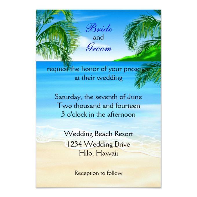 Tropical Beach Wedding Card