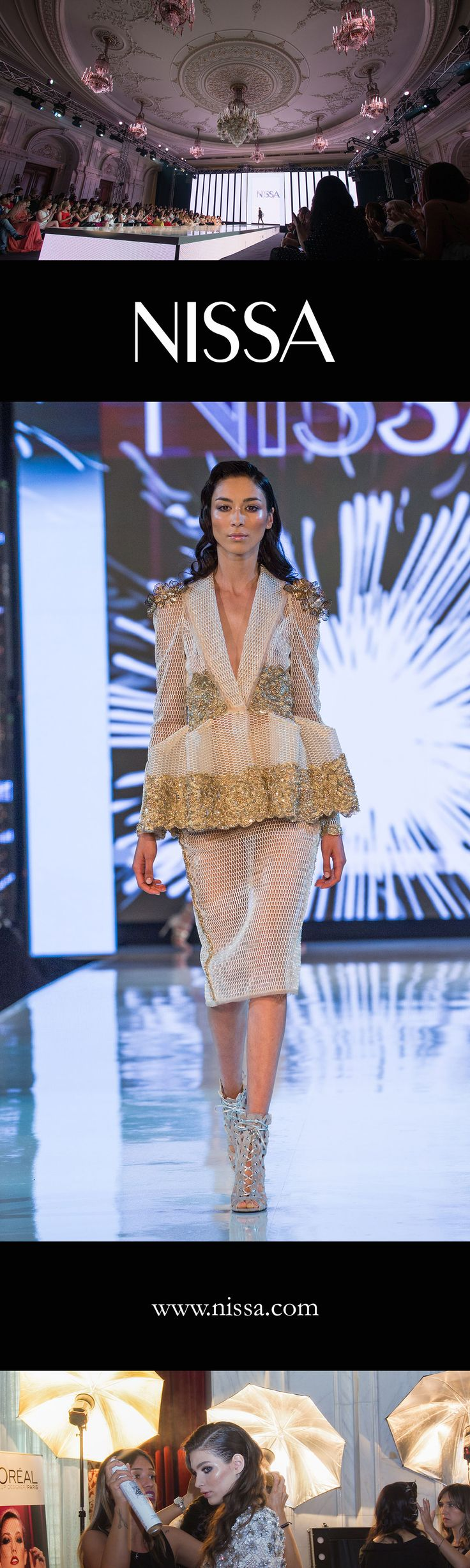 #nissa #musthave #evening #ss2016 #gold #flowers #night #partywear #women #fashion #fashionista #style #look #outfit #backstage #fashionshow #nissastyless2016
