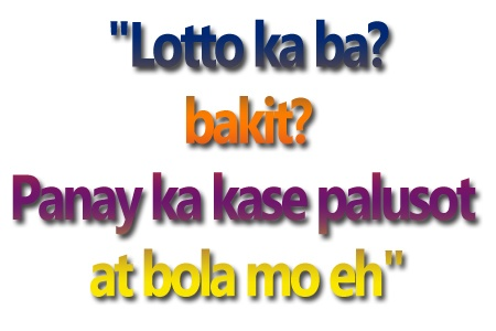Tagalog Pick Up Lines 2012