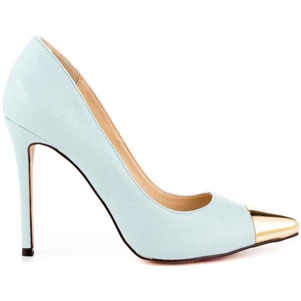 Luichiny Women's Daz Ey - Mint IM Lea featuring polyvore fashion shoes pumps heels footwear sapatos green heels stilettos stiletto pumps heels & pumps sexy stilettos sexy high heel pumps