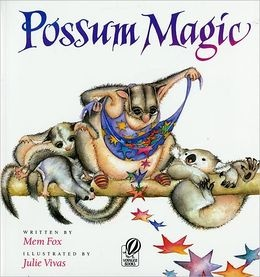 Compare/Contrast Mem Fox books.   Grandma Poss uses her best bush magic to make Hush invisible. But when Hush longs to be able to see herself again, the two possums must make their way across Australia to find the magic food that will make Hush visible once more. At back of book: map & glossary for different foods of Australia and Tasmania.