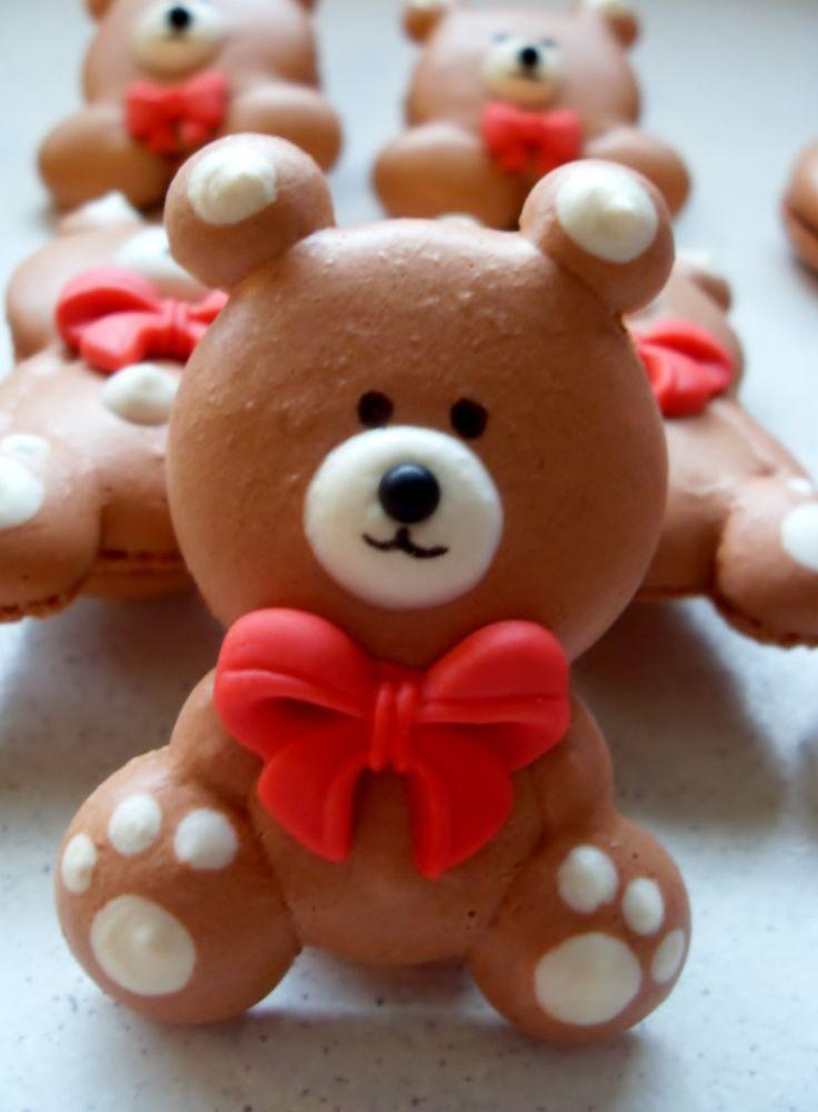 Cute Bear Macarons