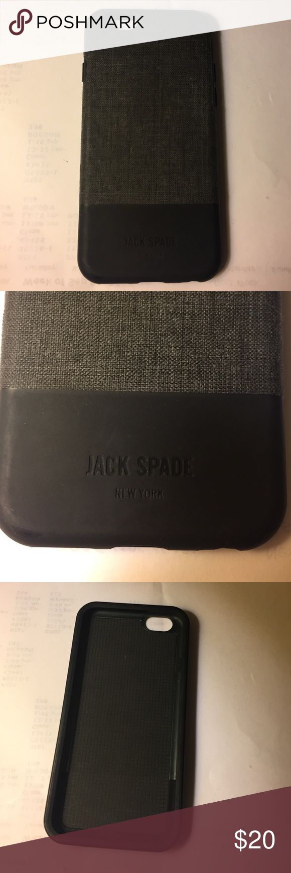 Jack Spade iPhone 6 case Barley used looks brand new. Jake Spade. Fabric on top and black silicon on the bottom Jack Spade Accessories Phone Cases