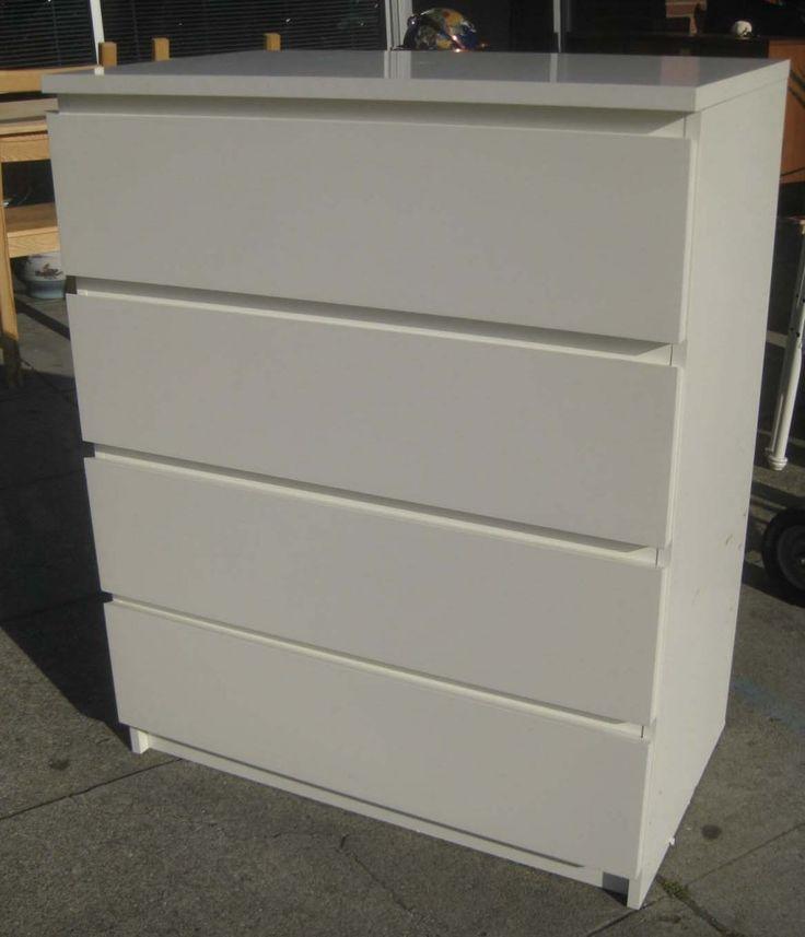 White Ikea 2 Drawer Dresser