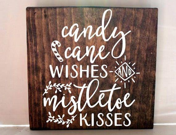 christmas sign candy cane sign mistletoe sign christmas