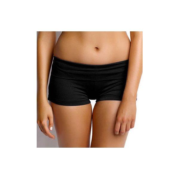 Seafolly S4399 Goddess Roll Top Boy Leg Swim Bottom (91 AUD) ❤ liked on Polyvore featuring swimwear, bikinis, bikini bottoms, seafolly bikini bottoms, seafolly bikini, boy shorts bikini, boy shorts swimwear and boy short bikini