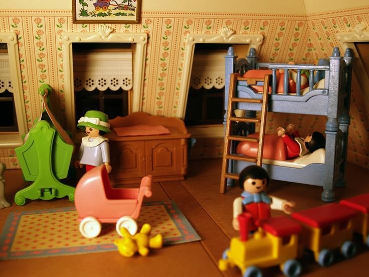 playmobil dollhouse nursery doll houses Pinterest