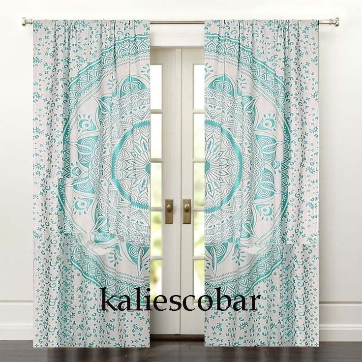 Mandala Bedroom Window Curtains Drape Balcony Room Decor Curtain Boho Set #Unbranded #Traditional