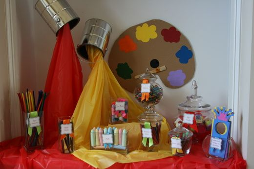Art partyArt Party, Art Birthday, Art Parties, Birthday Parties, Theme Parties, Painting Parties, Parties Ideas, Paint Party, Party Ideas