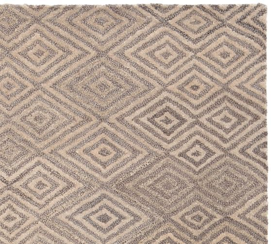 Devin Tufted Rug - Neutral   Pottery Barn