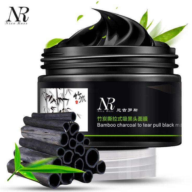 100g Tiefenreinigung reinigung bambus maske holzkohle Öl Kontrolle entferner Mitesser abziehen Akne pflege gesichtsschönheit werkzeuge