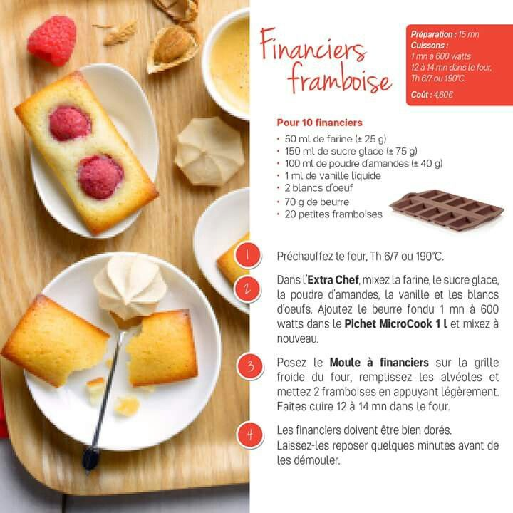 TUPPERWARE - financiers framboise