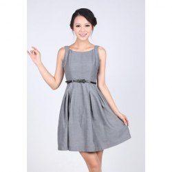 Elegant Scoop Neck Sleeveless Summer Dresses For Women