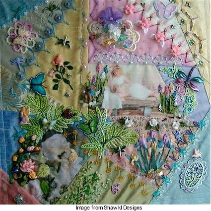 Crazy Quilting Stitches Patterns : 1000+ ideas about Crazy Quilting on Pinterest Crazy quilt blocks, Embroidery and Quilts