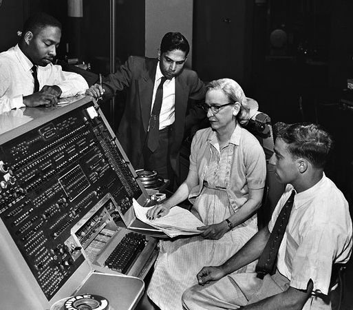 United States Navy Admiral Grace Hopper (1906–1992) was one of the first programmers in the history of computers. Her belief that programming languages should be as easily understood as English was highly influential on the development of one of the first programming languages called COBOL.