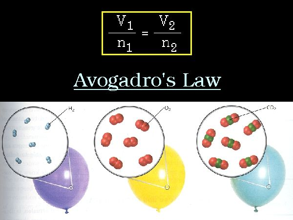 avogadro's law examples - Google Search