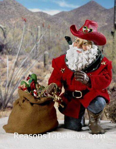 Cowboy Santa Collectable Figures Home Gt Santa Figurine Themes Gt Cowboy Santas Gt Cowboy Santa
