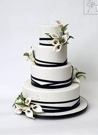 Tort ślubny z kaliami / wedding cake with callas