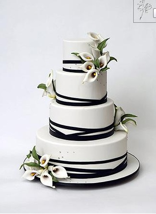Tort ślubny z kaliami / wedding cake with callas