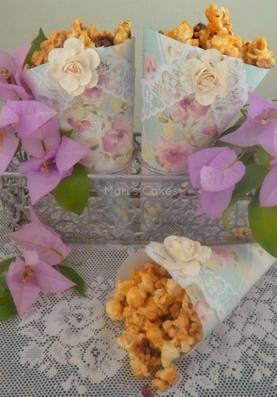 Palomitas Acarameladas con Nuez  (Caramel Pecan Popcorn)