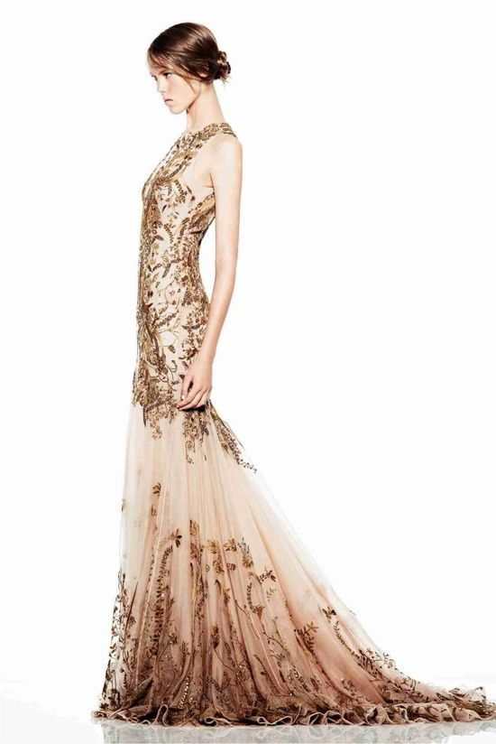 gold   nude. This is similar to my future  wedding dress.