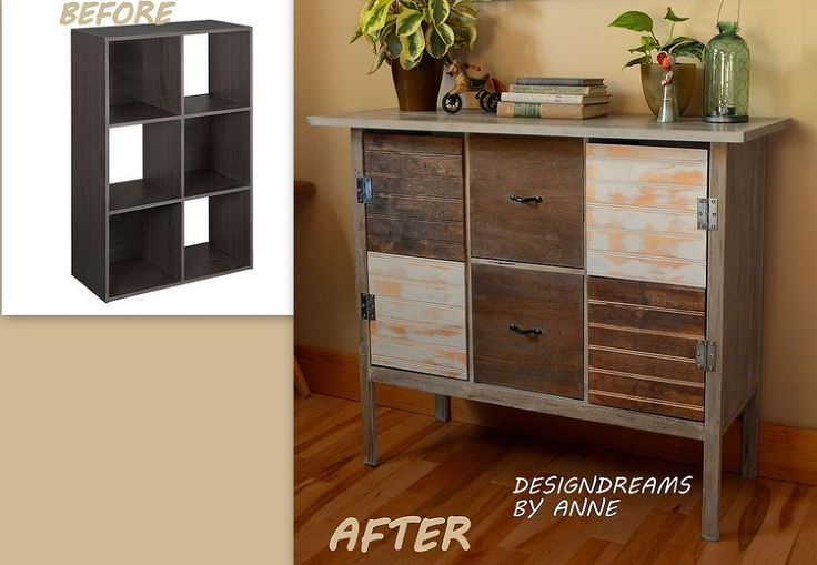 Upcycle cube shelving restoration hardware knockoff ikea Repurpose ikea furniture