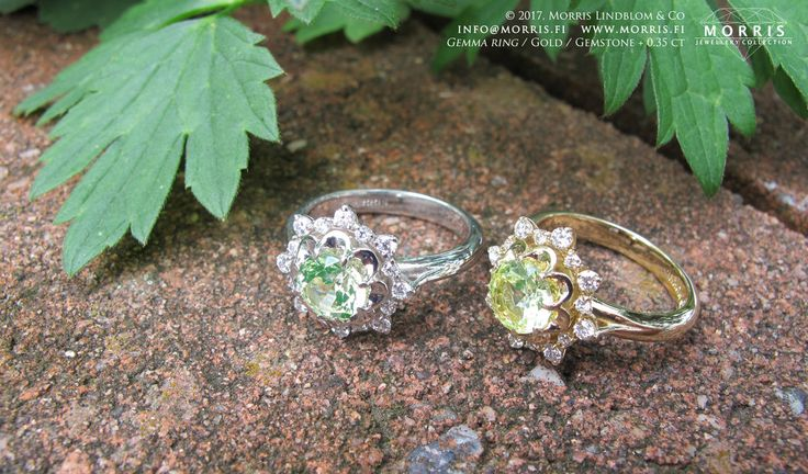 Vintage Inspired Engagement Ring Apple Green Spinel Diamond