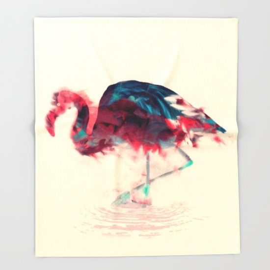 Born Flamingo Throw Blanket